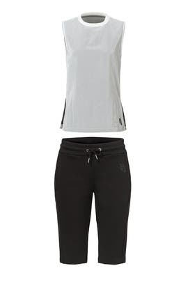 Essential White Tank & Black Short by Nike