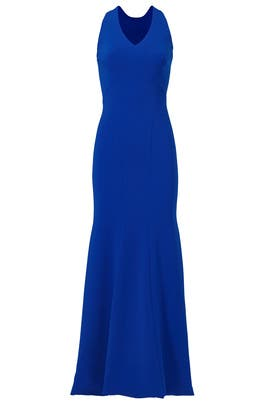 Cobalt Smooth Mermaid Gown by Theia