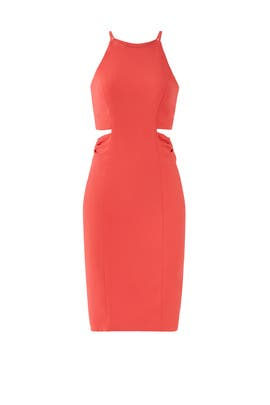 Coral Cut Out Sheath by Badgley Mischka