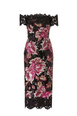Floral Sequin Sheath by Marchesa Notte