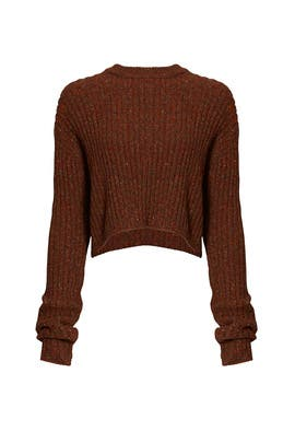 Terracotta Cropped Sweater by Tibi