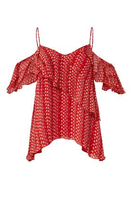 Red Chiara Top by Tanya Taylor
