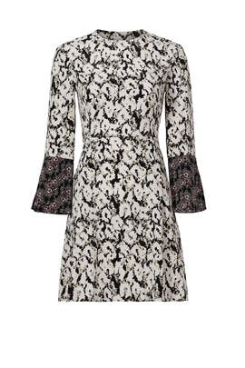 Leopard Print Bell Sleeve Dress by 10 CROSBY DEREK LAM