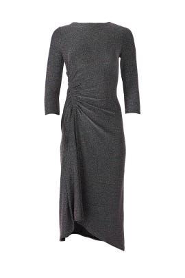 Metallic Knit Midi Dress by Donna Morgan