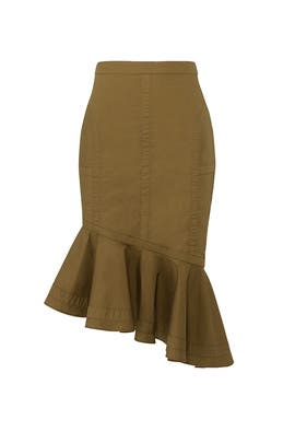 Green Marley Skirt by Fame & Partners
