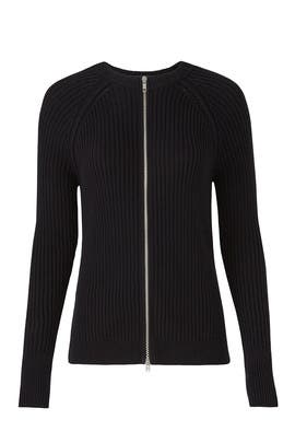 Black Zipper Knit by Michael Stars