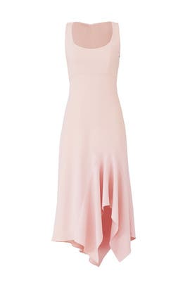 Blush Scoop Neck Dress by Carmen Marc Valvo