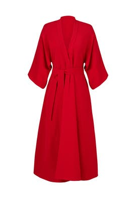 Red Structured Dress by Tome