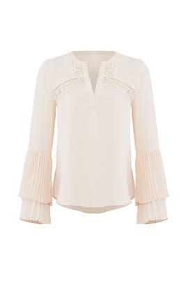 Beige Elissa Blouse by Adelyn Rae
