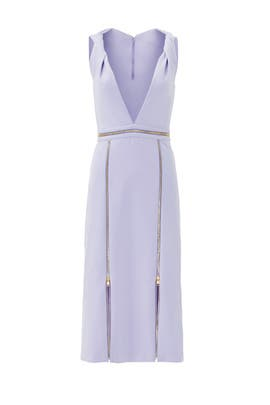 Lavender Twisted Zipper Dress by Cushnie Et Ochs