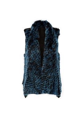 Emerald Genevieve Fur Vest by ELLIATT