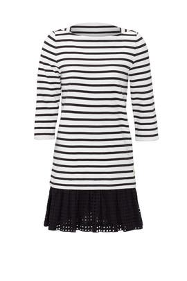Dot Eyelet Stripe Dress by kate spade new york