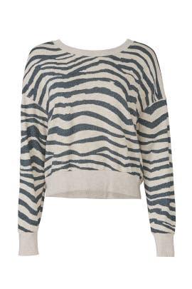 Zebra Print Sweatshirt by Splendid
