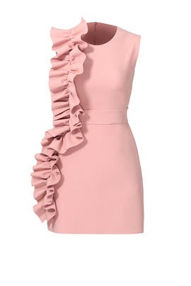 Pink Side Ruffle Dress by MSGM