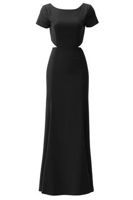 Black Cut Twirl Gown by Slate & Willow