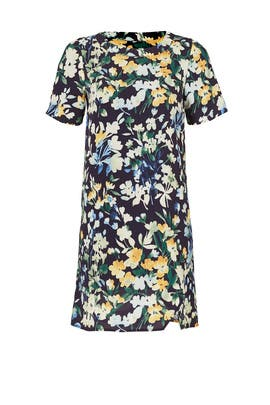 Blue Floral Throw Shift Dress by Slate & Willow