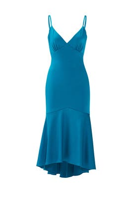 Teal Flounce Dress by Theia
