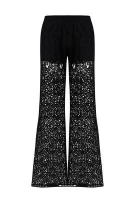 Sallie Black Lace Pants by PINKO