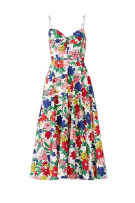 Multi Floral Midi Dress by Tara Jarmon