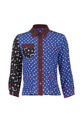 Mash Up Pajama Shirt by Marni