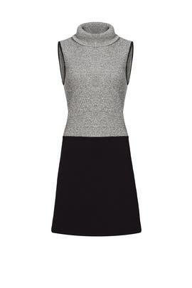 Greyscale Colorblock Piping Dress by Matison Stone