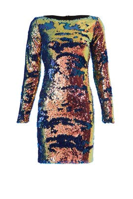 Blue Multi Sequin Sheath by NAEEM KHAN
