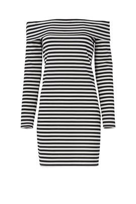 Striped Camellias Dress by Trina Turk