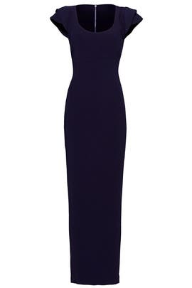 Navy Side Zip Gown by Antonio Berardi