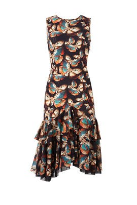 Butterfly Tiered Dress by Fuzzi