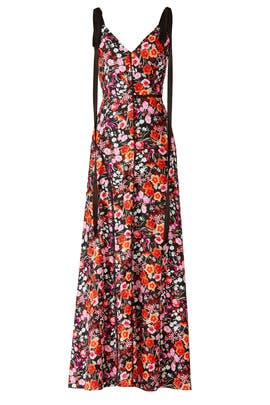 Multi Flower Print Maxi by Goen. J