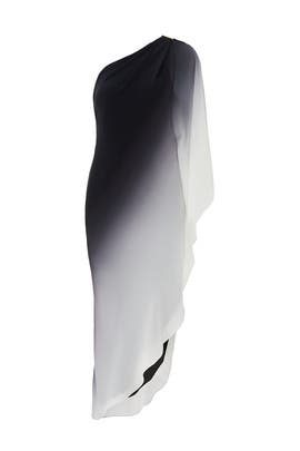 Smoky Ombre One Shoulder Dress by Halston Heritage