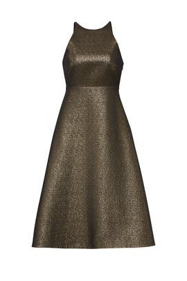 Glitter Bow Back Dress by Halston Heritage