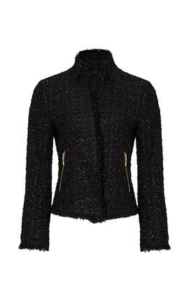 Black Shimmer Tweed Jacket by kate spade new york