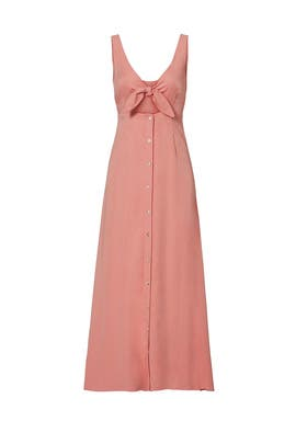 Pink Tie Midi Dress by Mara Hoffman