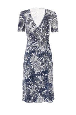 Navy Flare Wrap Dress by Diane von Furstenberg