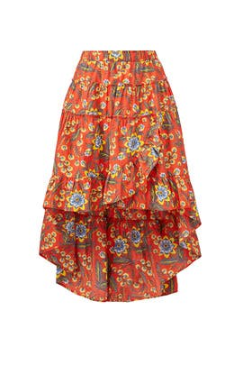 Floral Clarke Skirt by Joie