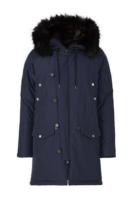 Blue Technical Parka by The Kooples