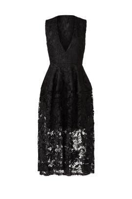 Black Metallic Lace Ball Dress by Nicholas