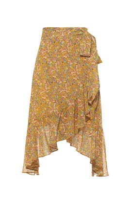 Yellow Selena Skirt by Rebecca Minkoff