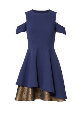 Navy Tier Gold Dress by Slate & Willow