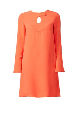 Orange Cady Mini Dress by DEREK LAM