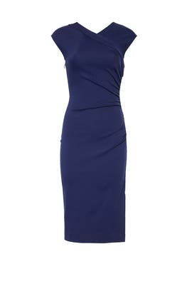 New Navy Ruched Dress by Diane von Furstenberg
