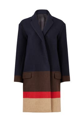 Striped Wool Coat by Nicholas