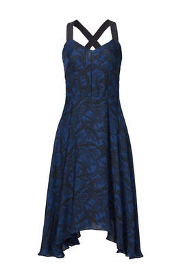 Indigo Handkerchief Hem Dress by Derek Lam 10 Crosby