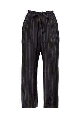 Navy Pinstripe Tie Pants by VINCE.