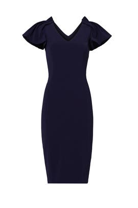 Navy Tulip Shoulder Sheath by Badgley Mischka