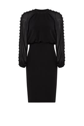 Black Blouson Dress by Badgley Mischka