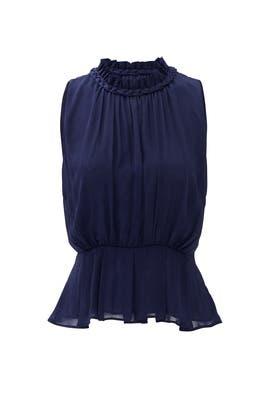 Navy Jenner Braided Trim Top by Greylin