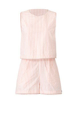 Pink Striped Romper by Scotch & Soda