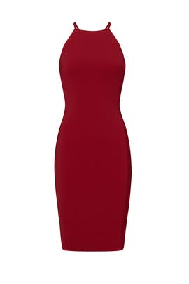 Venetian Red Sheath Dress by Slate & Willow